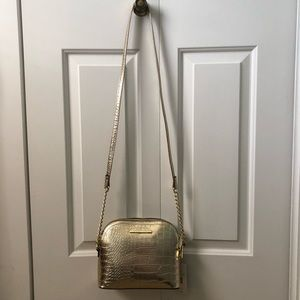 STEVE MADDEN Metallic Gold Crossbody Bag